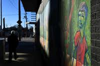 Murals in the Warehouse District allude to the neighborhood's new stature as a center for contemporary art.(Katherine Frey/The Washington Post)