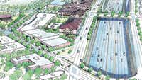"<p>From CityMAP: <span style=""font-size: 1em; background-color: transparent;"">""The Grand Avenue development would feature a complete street bridge over I-30 instead of the tunnel-like existing crossing under I-30. In addition, the Winslow and Dolphin bridges will be enhanced to allow residents to cross without perceived safety concerns. The key for this focus area is preserving the historic storefront building context and [adding] more density at a lower scale to frame Samuell-Grand Park. ""</span></p>"