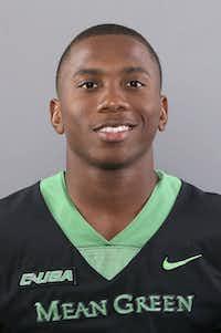 University of North Texas Football player Khairi Muhammad.