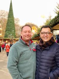 Jeff Cannon (left) and Aaron Lucero of Dallas were turned away from a Celina wedding venue, which says it does not host gay weddings. (Aaron Lucero)