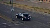 "<p>Police are searching for a man suspected of sexually assaulting a woman Monday. He was reportedly driving the black 2011<span style=""font-size: 1em; background-color: transparent;""> to 2014 Chrysler 300 shown in this image from police.&nbsp;</span></p>(Mesquite Police Department)"