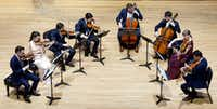 The Mendelssohn Octet performed at SMU's Caruth Auditorium in Dallas on Jan. 28, 2019.(Lawrence Jenkins/Special Contributor)