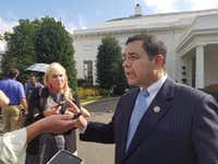 """<p><span style=""""font-size: 1em; background-color: transparent;"""">Rep. Henry Cuellar, D-Laredo, said he will not support President Donald Trump's border wall as a high-profile committee gets to work on a border security funding deal.</span></p>(Todd J. Gillman/Dallas Morning News)"""
