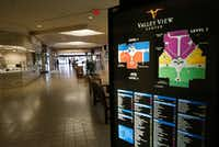 There is one hallway that still has businesses at Valley View. They will be gone by the end of February.(Nathan Hunsinger/Staff Photographer)