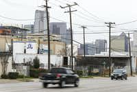 The vacant Pilgrim's Pride plant (left) is seen from the 2400 block of South Good Latimer Expressway just south of downtown Dallas on Wednesday, Jan. 30, 2019. (Ryan Michalesko/Staff Photographer)