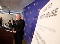 "<p><span style=""font-size: 1em; background-color: rgb(255, 255, 255);"">D</span><span style=""font-size: 1em; background-color: transparent;"">uring a news conference at the Dallas Diocese headquarters, Bishop Edward J. Burns said Thursday was ""a difficult day for the church in the state of Texas and for the Diocese of Dallas.""</span></p>(Rose Baca/Staff Photographer)"
