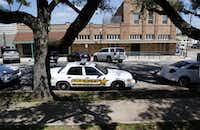 A Van Zandt County sheriff's vehicle sits outside the Van Zandt County municipal building in Canton, Texas on April 29, 2015.(Rose Baca/Staff Photographer)