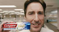 Colgate Total's 2019 Super Bowl commercial relies on star power in the form of actor Luke Wilson. (Colgate)