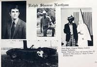 A photo from Gov. Ralph Northam's medical school yearbook shows two men, one in blackface and one in a Ku Klux Klan robe and hood, on the same page as the governor. A half-page from the 1984 Eastern Virginia Medical School yearbook, photographed by The Virginian-Pilot on Friday, Feb. 1, 2019. (Eastern Virginia Medical School/TNS)