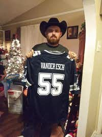 C.J. Wicker was a devoted Dallas Cowboys fan who doted on his children.(Courtesy of Ashley Wicker)