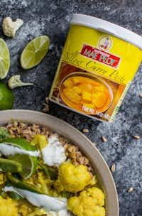 Yellow Curry Cauliflower Farro Bowl(Rebecca White/Special Contributor)