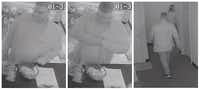 Lewisville police released surveillance images Monday of a man who pretended to be an officer and robbed an employee at a massage parlor last week.(Lewisville Police Department)