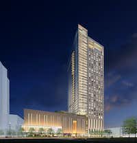 "<p><span style=""font-size: 1em; background-color: transparent;"">The 39-story Victor apartment tower Hines is building in Dallas' Victory Park is by the same architect.</span></p>(<p><span style=""font-size: 1em; background-color: transparent;"">Munoz + Albin.</span></p><p></p>)"