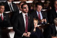 Rep. Dan Crenshaw, R-Houston, has cautioned President Donald Trump against completely withdrawing the U.S. from Syria.  (Chip Somodevilla/Getty Images)