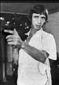 Ken Harrison filming an art opening for his 1975 documentary <i>Jackelope</i>(Gary Bishop)