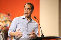 Presidential candidate Julian Castro spoke at a campaign fundraiser last month at Mercado 369  in Dallas. (Ryan Michalesko/Staff Photographer)