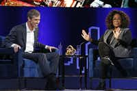 """<p><span style=""""font-size: 1em; background-color: transparent;"""">Oprah Winfrey makes former Democratic Texas congressman Beto O'Rourke squirm in his chair by prompting him to say whether he is running for president during a live interview on a Times Square stage at """"SuperSoul Conversations,"""" Tuesday, Feb. 5, 2019, in New York. (Kathy Willens/Associated Press)</span></p>"""