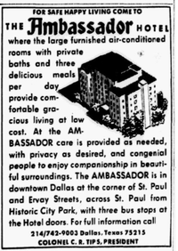 An ad that ran in <i>The Dallas Morning New</i>s in 1973