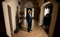 Ron Hernandez poses for a photograph in his Dallas home on Friday, Feb. 8, 2019.(Shaban Athuman/Staff Photographer)