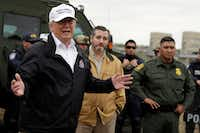 President Donald Trump, with Sen. Ted Cruz, toured the U.S.-Mexico border in McAllen on Jan. 10, 2019.(Evan Vucci/AP)
