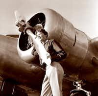 Aviator Amelia Earhart in 1937 at Burbank Airport in Burbank, Calif.(Albert Bresnik/The Associated Press)