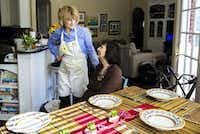 Carol Ireton-Jones, a private practice registered dietitian nutritionist, left, talks with her 95-year-old mother, Nina Ireton, while cooking spaghetti at her home in Carrollton on Jan. 25, 2019. Over the years, Carol has helped Nina with her nutrition and eats with her mother at least once a week.(Carly Geraci/Special Contributor)
