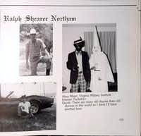 Ralph Northam's page in the 1984 yearbook of Eastern Virginia Medical School in which two people are wearing blackface and a KKK costume. (Obtained by The Washington Post)