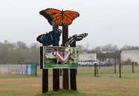 The entrance to the National Butterfly Center in Mission.(Suzanne Cordeiro/Agence France-Presse)