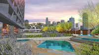 The pool deck on JMJ Development's Design District building overlooks downtown.(JMJ Development)