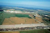 In 1997, much of the land surrounding the Alliance Airport in North Fort Worth was still undeveloped.(DMN files)
