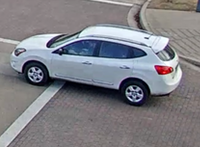 A surveillance image shows the Nissan Rogue driving away.(Fort Worth Police Department)