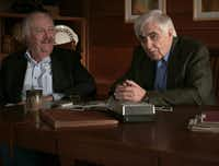 Stephen Michaud (left) and Hugh Aynesworth in a photo from <i>Conversations with a Killer: The Ted Bundy Tapes</i>(Netflix)