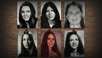 "<p>A photo of some of women Ted Bundy killed is included in <i>Conversations with a Killer: The Ted Bundy Tapes</i>.  Bundy's victims ""<span style=""font-size: 1em; background-color: transparent;"">were all very young. I guess the oldest might have been 28. Most were between 18 and 22,"" Hugh Aynesworth says.</span></p>(Netflix)"