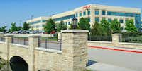 <p>The Duke Bridges III building in Frisco is 90 percent leased.<br></p>(HFF)