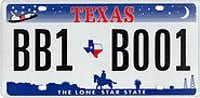Texas license plates introduced in 2000.(Texas Department of Transportation)