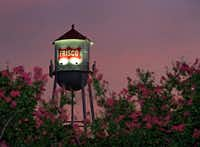 A look at the Frisco water tower at sunset in downtown Frisco.(File Photo/Staff)