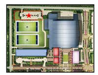 The planned office project would be constructed overlooking the Dallas Cowboy's practice fields in The Star development in Frisco.(City of Frisco)