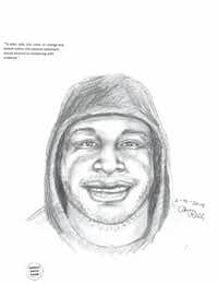 Lewisville police released this sketch of a man suspected in the Feb. 15 armed robbery and killing of a Valero store clerk.(Lewisville Police Department)
