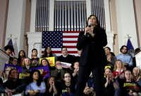 Democratic presidential candidate Sen. Kamala Harris, D-Calif., speaks at a campaign event in Portsmouth, N.H., Monday, Feb. 18, 2019. (Elise Amendola/AP)