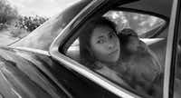 Yalitza Aparicio in a scene from the film<i> Roma</i>, which is a favorite in several awards categories.(Alfonso Cuaron)
