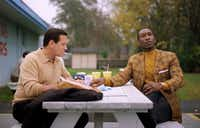 Viggo Mortensen (left) and Mahershala Ali in a scene from <i>Green Book</i>.(Universal Pictures)