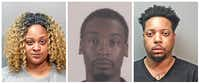 From left: Tiunna Michell Mason, Jonathan Craig Russell, Phares Scarborough.(Fort Worth Police Department, Tarrant County Sheriff's Department)