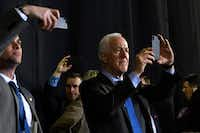 Sen. John Cornyn, R-Texas, listened to President Donald Trump speak at a rally in El Paso, Texas, last week.(Susan Walsh/The Associated Press)