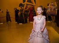 Gwendolyn Hansford, 4, dressed up as Anastasia, poses for a portrait before a performance of <i>Anastasia </i>at the Music Hall at Fair Park in Dallas. The musical runs until March 3.&nbsp;(Daniel Carde/Staff Photographer)