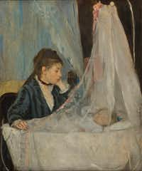 "Berthe Morisot's <i>The Cradle</i>, an 1872 oil-on-canvas piece, is included in the Dallas exhibition.&nbsp;(<p><span style=""font-size: 1em; background-color: transparent;"">Musée d'Orsay</span><br></p><p></p>/Patrice Schmidt)"
