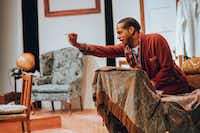 """<p><span style=""""font-size: 1em; background-color: transparent;"""">Djoré</span><span style=""""font-size: 1em; background-color: transparent;"""">Nance as persecuted playwright Langston Hughes, in the Stage West production in Fort Worth of a new play about Hughes' life.</span><br></p><p></p>(Garret Storms/Stage West)"""