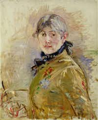 "Berthe Morisot painted this self-portrait in 1885 using oil on canvas.&nbsp;(Bridgeman Images/<p><span style=""font-size: 1em; background-color: transparent;"">Musée Marmottan Monet</span></p>)"