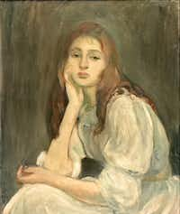 "Berthe Morisot's most frequent muse was her daughter, Julie, who can be seen in the Dallas exhibition from babyhood to adolescence.&nbsp;(<p><span style=""font-size: 1em; background-color: transparent;"">Galerie Hopkins, Paris</span><br></p><p></p>/Private collection)"