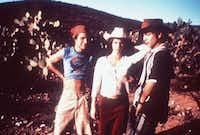 Actors Gael Garcia Bernal, left, Maribel Verdu, center, and Diego Luna in <i>Y Tu Mama Tambien</i>, directed by Alfonso Cuaron.(Daniel Daza/The Associated Press)