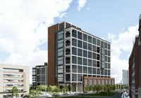 Developer Hillwood is hunting tenants for a 15-story office building in Dallas' Victory Park..(BOKA Powell)